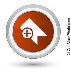 Bookmark icon prime brown round button