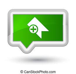 Bookmark icon prime green banner button
