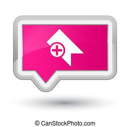 Bookmark icon prime pink banner button