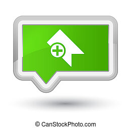 Bookmark icon prime soft green banner button