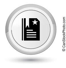 Bookmark icon prime white round button