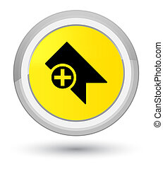 Bookmark icon prime yellow round button