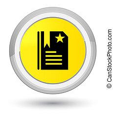 Bookmark icon prime yellow round button
