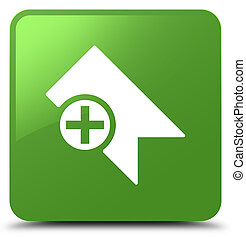 Bookmark icon soft green square button