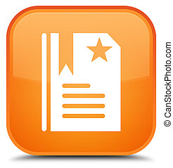 Bookmark icon special orange square button
