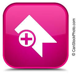 Bookmark icon special pink square button