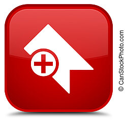 Bookmark icon special red square button