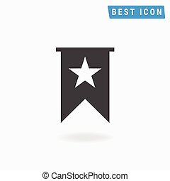 Bookmark Icon Vector, Bookmark Icon Flat