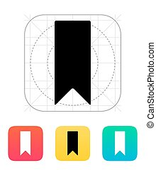 Bookmark icon. Vector illustration.