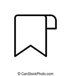 Bookmark icon vector symbol design templates