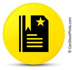 Bookmark icon yellow round button