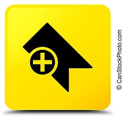 Bookmark icon yellow square button