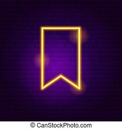 Bookmark Neon Sign