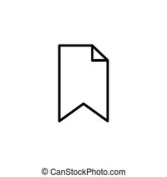 Bookmark outline icon
