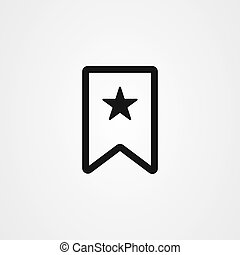 Bookmark ribbon with star icon vector