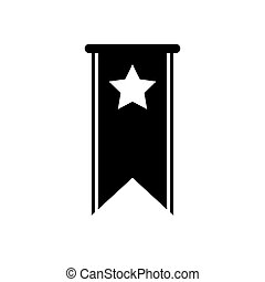 Bookmark star icon vector illustration Black favorite button for web or mobile app UI