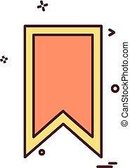 Bookmark tag icon design vector
