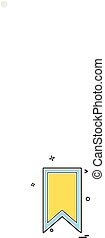 Bookmark tag icon design vector
