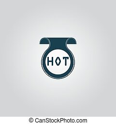 Bookmark with Hot message