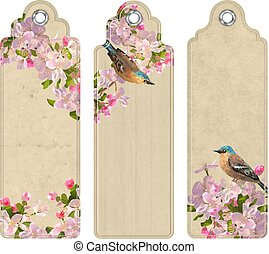 bookmarks, セット, 花