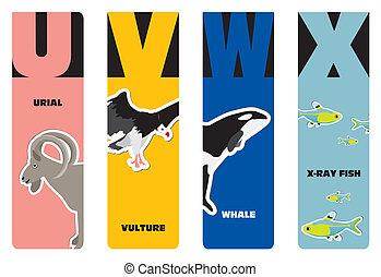 bookmarks - animal alphabet