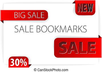 bookmarks, carta, rosso