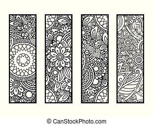bookmarks, coloritura, set