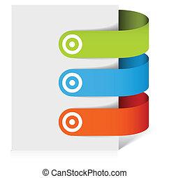 bookmarks, sæt, farverig