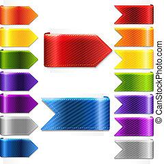 Bookmarks Set, Vector Illustration