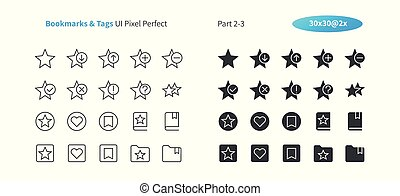 Bookmarks & Tags UI Pixel Perfect Well-crafted Vector Thin Line And Solid Icons 30 2x Grid for Web Graphics and Apps. Simple Minimal Pictogram Part 2-3