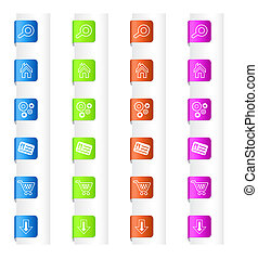Bookmarks with System Icons in Four Colors