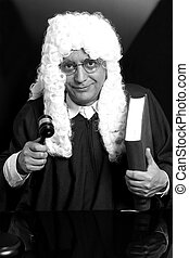 book.monochrome, avocat, juge, tenue, marteau, portrait, mâle