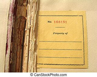 bookplate, antigas