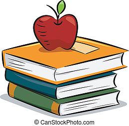 books, яблоко