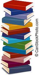 books., ベクトル, 山, カラフルである