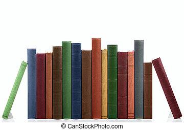 books., 古い, 横列