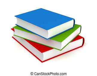 books 3d  on white background   illustration