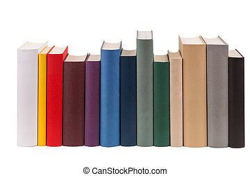 Books - A row of different books in different colors.