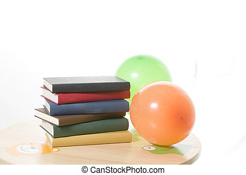 Books and baloons