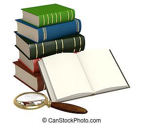 Books and loupe