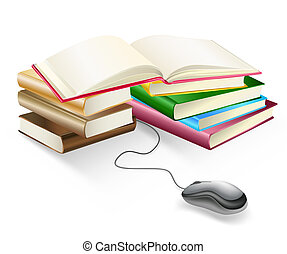 books and mouse e-learning