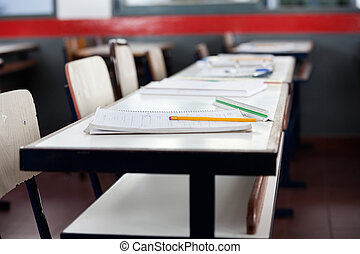 Books And Pencil On Desk - Books and pencil on desk in ...