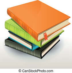 Books And Pics Albums Pile - Illustration of a stack of...