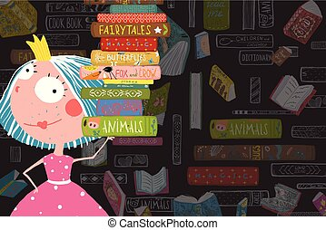 Books and Reading Kid Girl Fairy Tale Princess