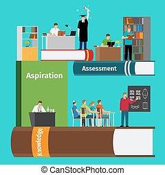 Books education infographics