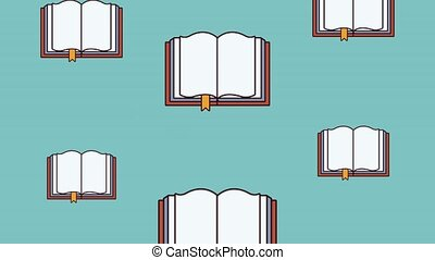 Books falling background HD animation - Books falling over...