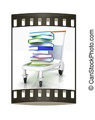 books., film, acquisto, striscia