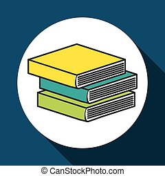 books icon design, vector illustration