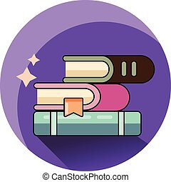 Books icon isolated. Modern flat style design.