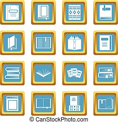 Books icons azure